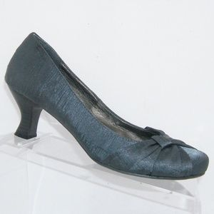 Jellypop 'Foy' gray fabric tapered round heels 9M